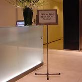 Bespoke freestanding notice information board