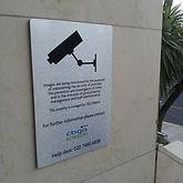 Facilities management CCTV sign