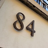Bronzed 3D fascia lettering / numbers