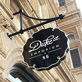 Duke Street London W1 black sign bracket panel
