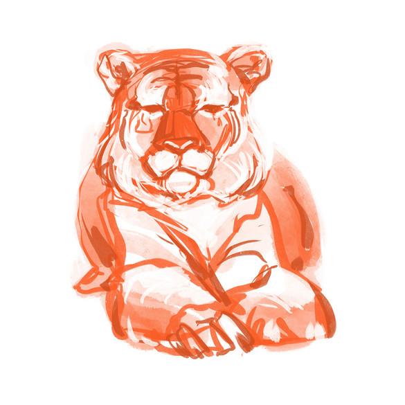 Rose Gold Tiger