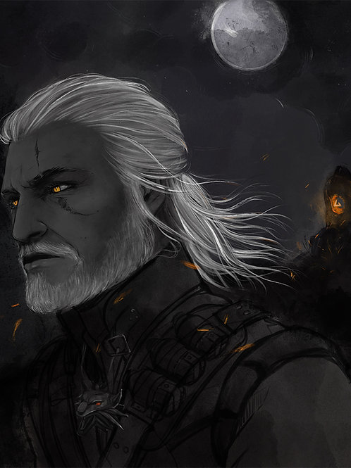 Portrait of a Witcher Art Print