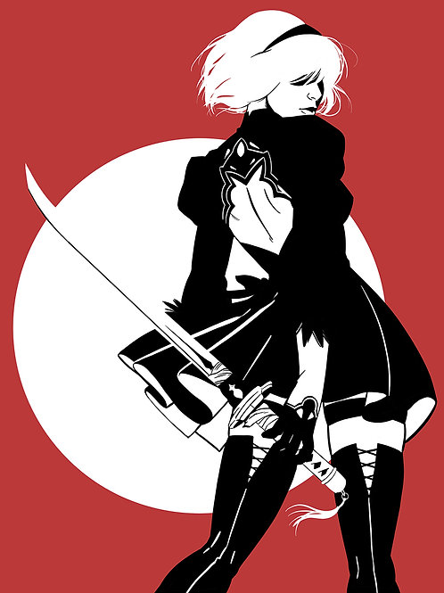 2B_becomes_as_gods Art Print