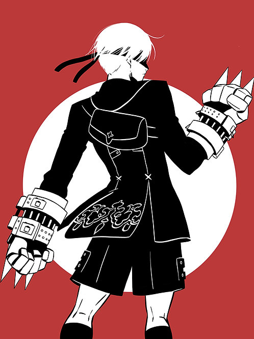 9S_becomes_as_gods Art Print