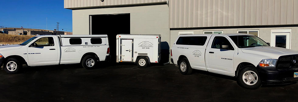 Wyoming Termite & Pest Control trucks and trailer