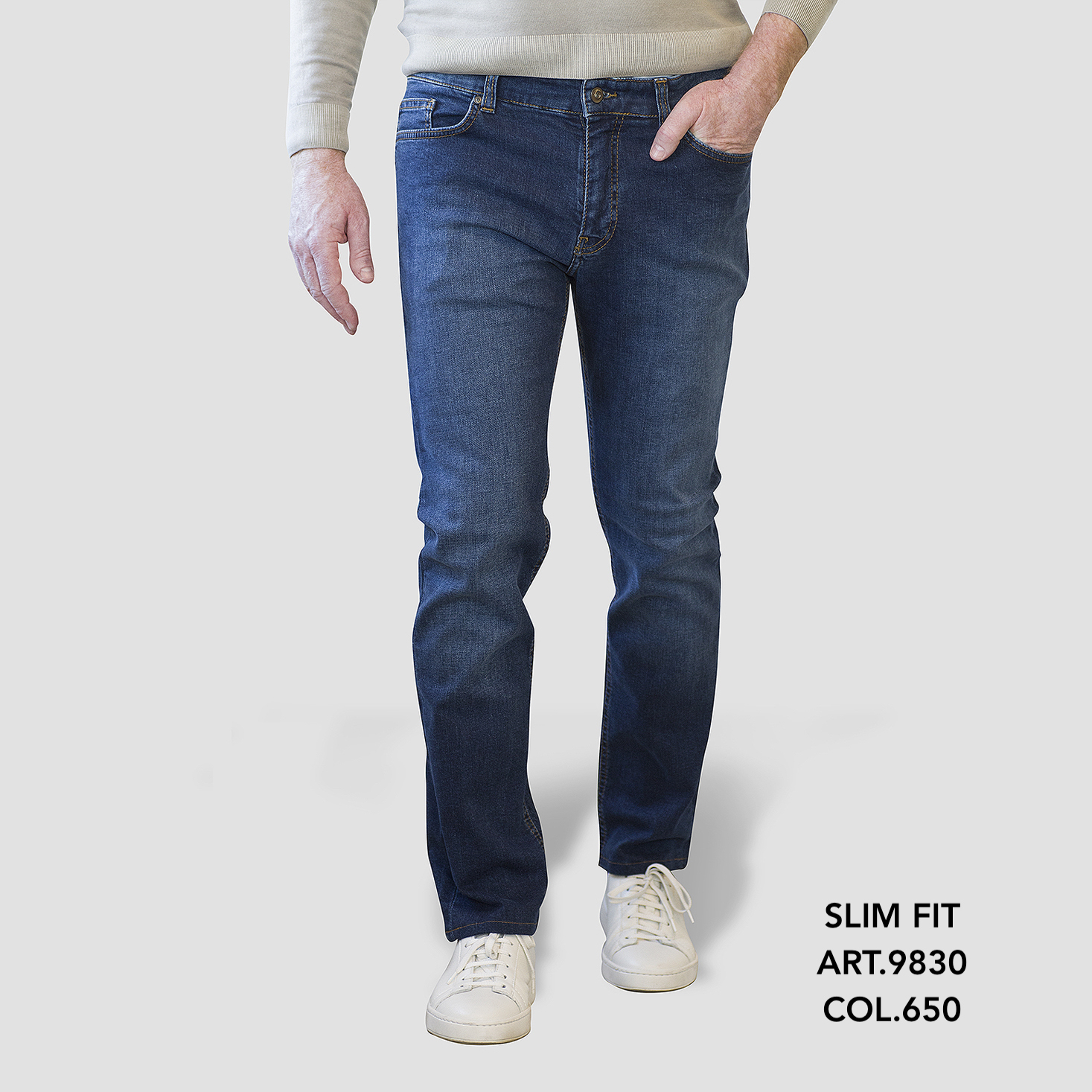 Slim Fit art.9830 col.650