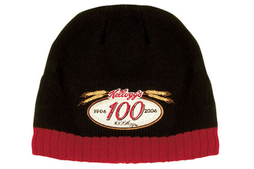 Cable Knit Trimmed Beanie - Toque with Fleece Lining