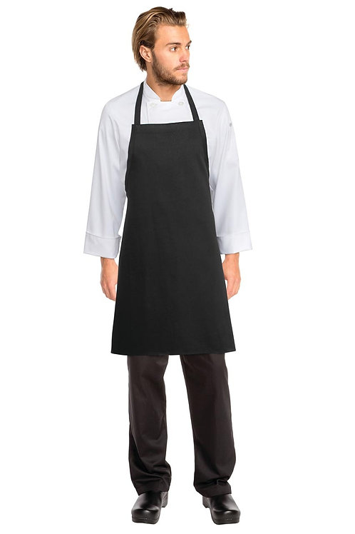 Black Bib Apron No Pocket