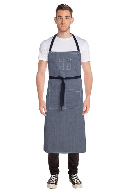 Portland Indigo Blue Denim Adjustable Bib Apron