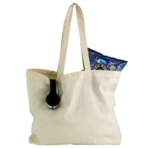 Natural Cotton Shopper Tote