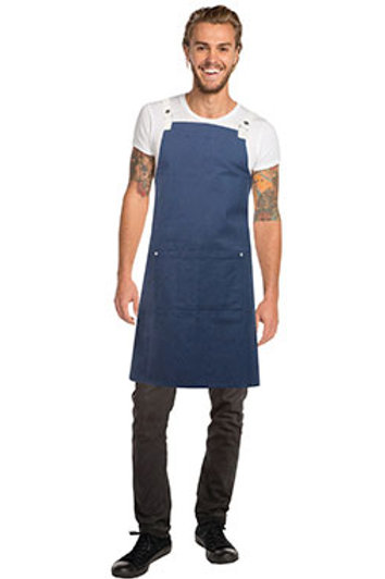 Byron Cross-Back Navy Apron