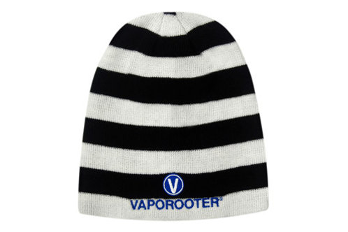 Rolled Down Acrylic Striped Beanie - Toque