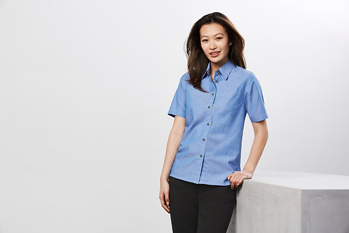 Ladies Wrinkle Free Chambray Shirt - Biz Collection