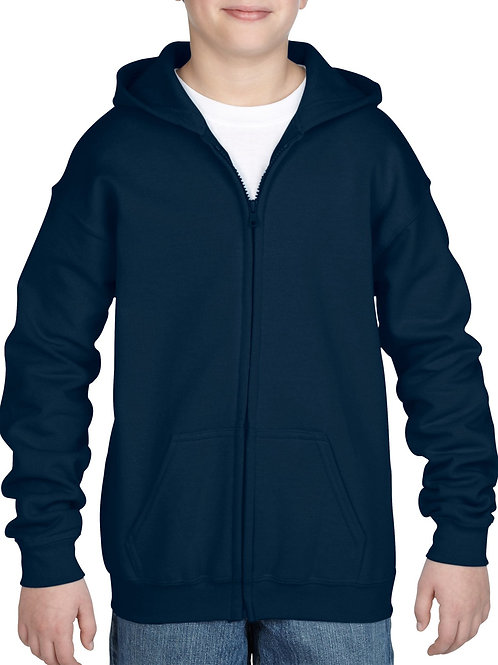 Gildan® Heavy Blend™  Youth Full Zip Hooded Sweatshirt