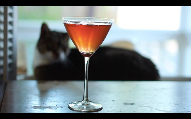 """Rosebud—A Cocktail (& Video) Inspired by """"Citizen Kane"""""""