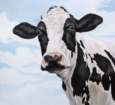 Standing in a Field with a Cow