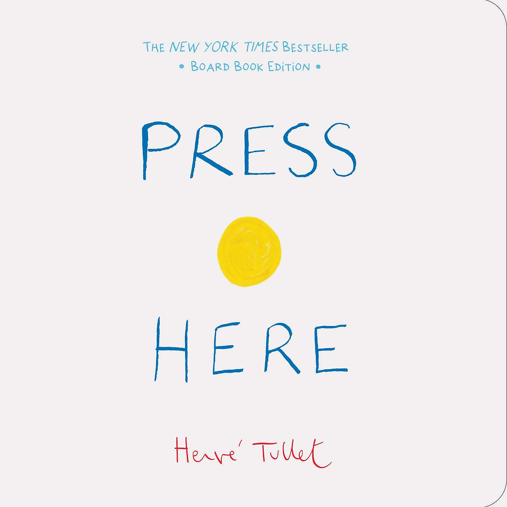 Book cover of Press Here by Herve Tullet