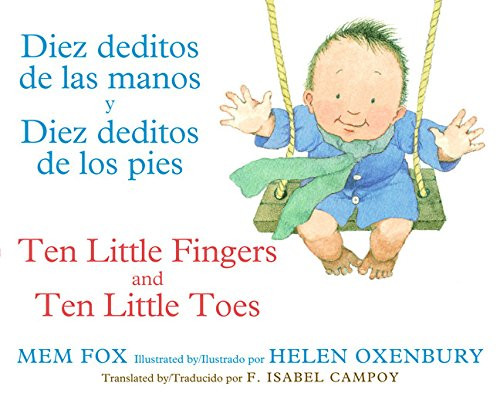 Book cover of 10 little fingers and 10 little toes bilingual book