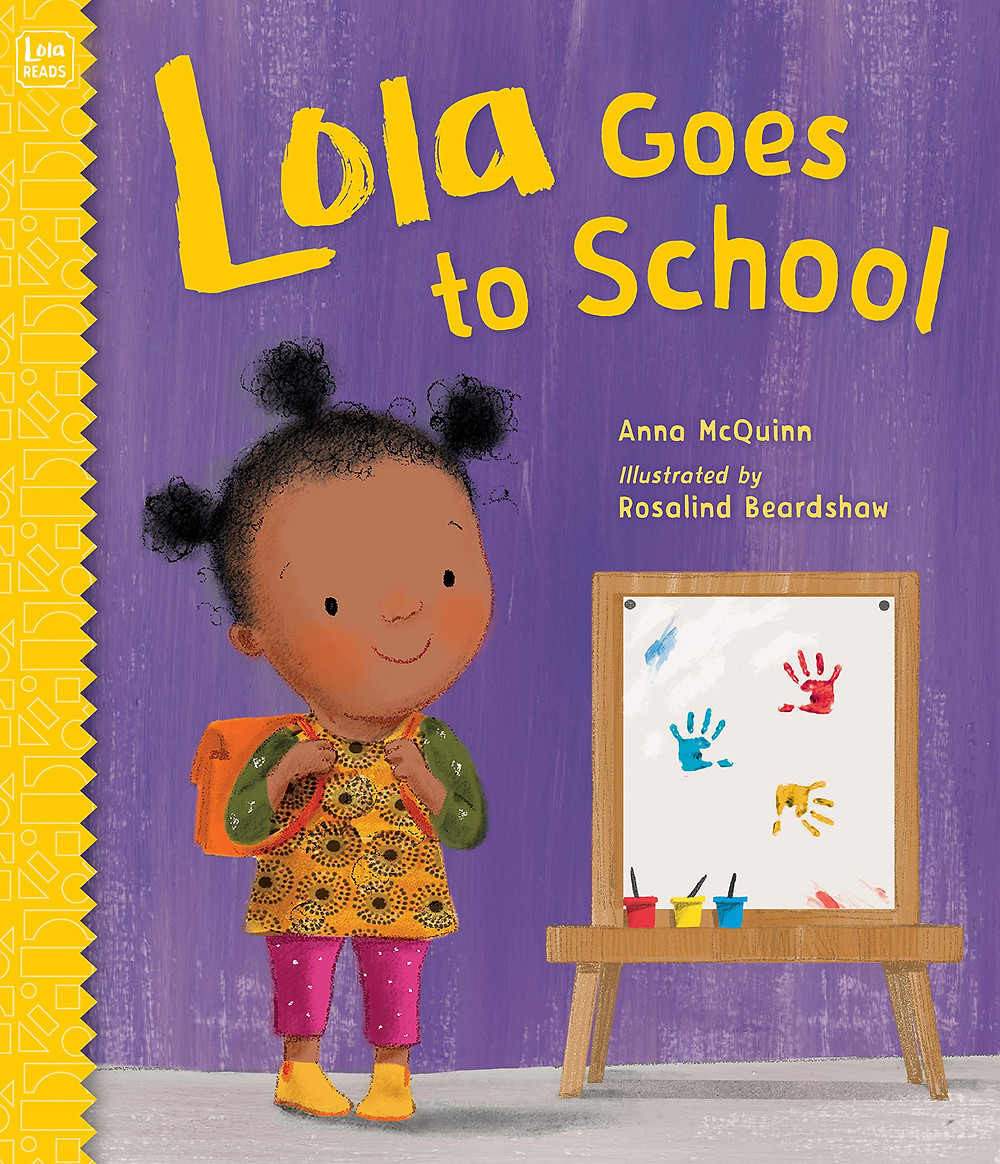 Book cover of Lola Goes to School book