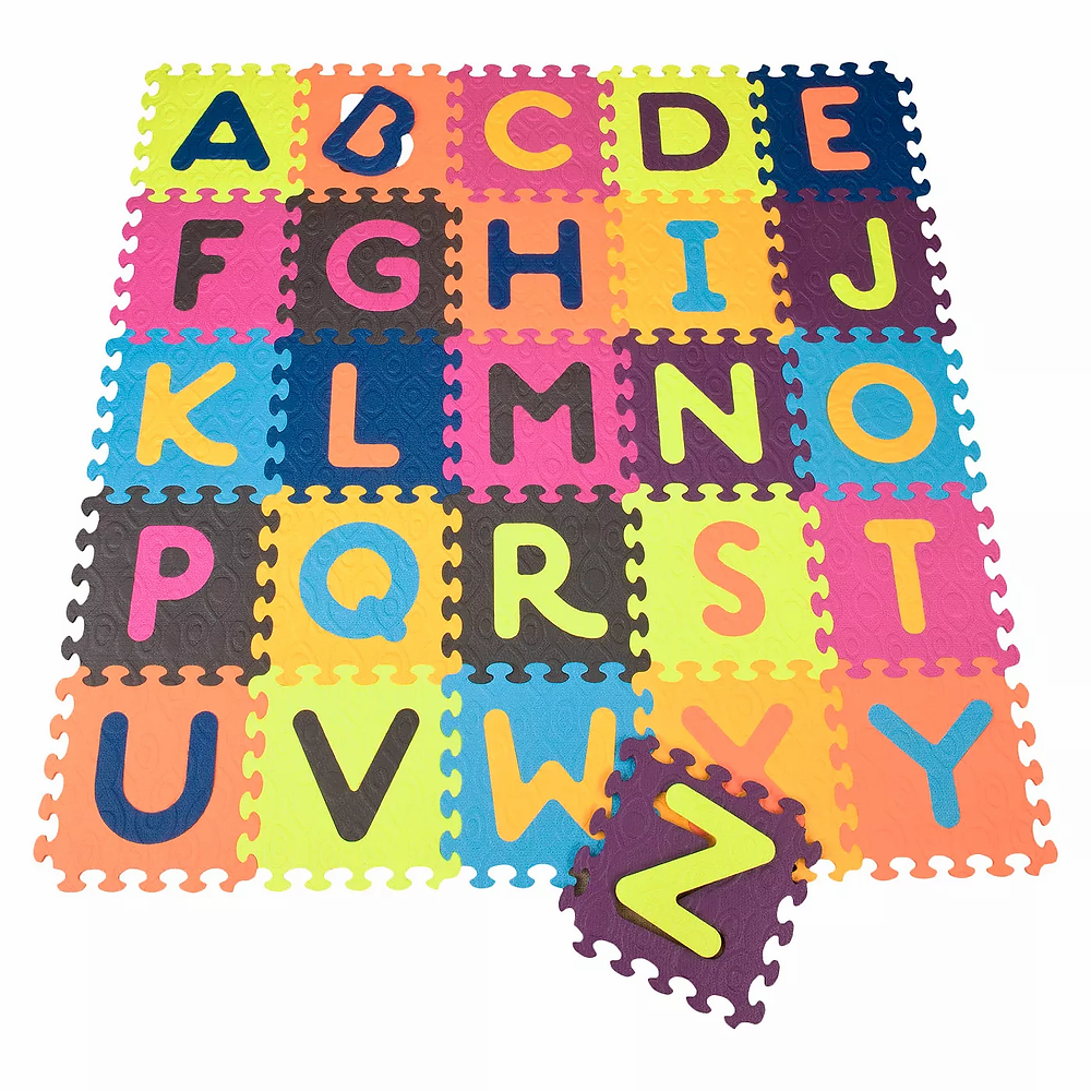 Colorful foam matt for kids with letters of the alphabet