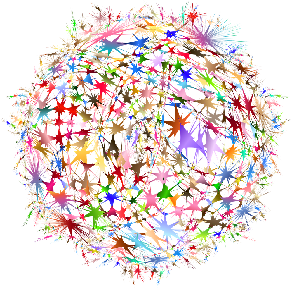 Colorful Ball of Neural Connectivity