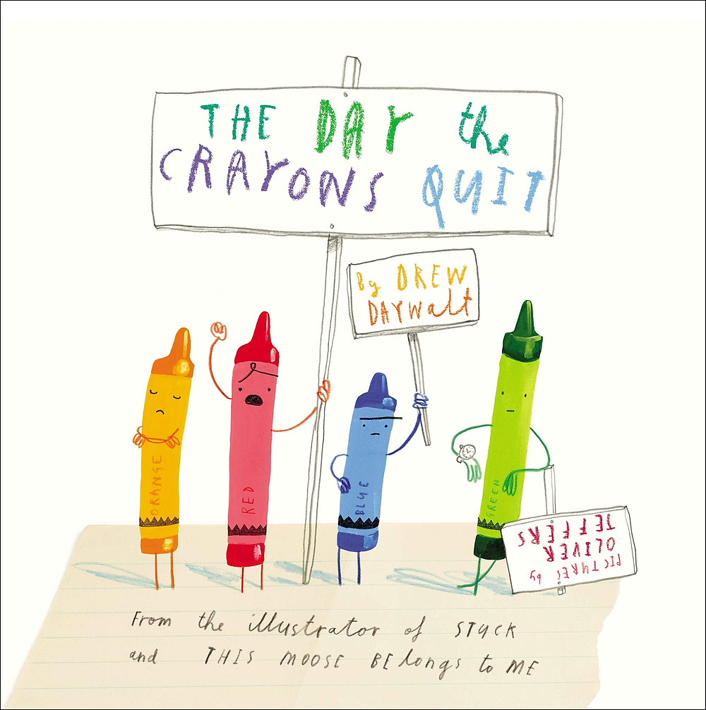 Book cover of The Day the Crayons Quit book