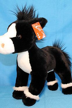 Pferd schwarz/weiss stehend gross