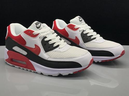 design intemporel b8173 3fbac Nike Air Max 90 White Red Black