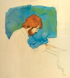 Redhead at Piano