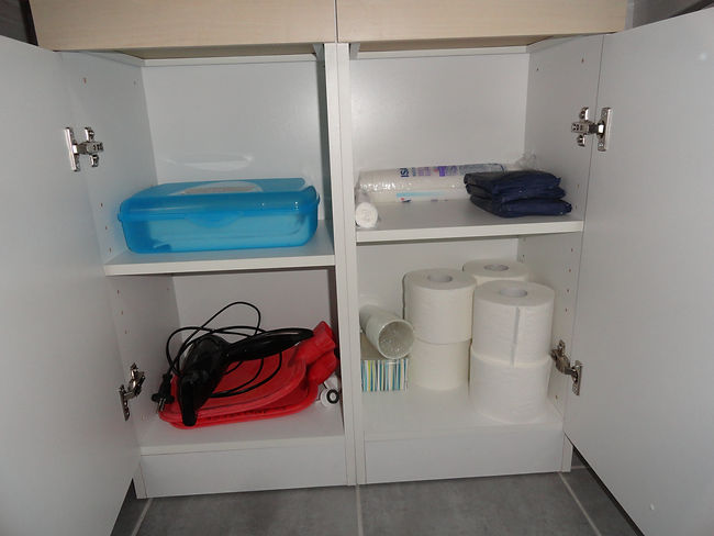 Badezimmer, Toilettenpapier, Ferienhaus,