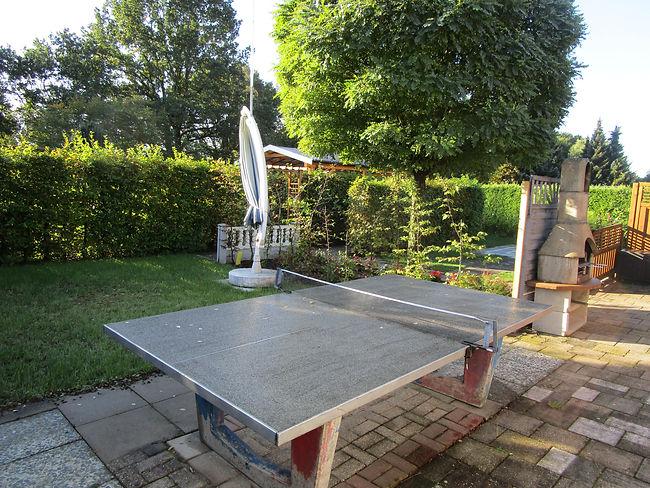 Tischtennisplatte Garten Ferienwohnung F