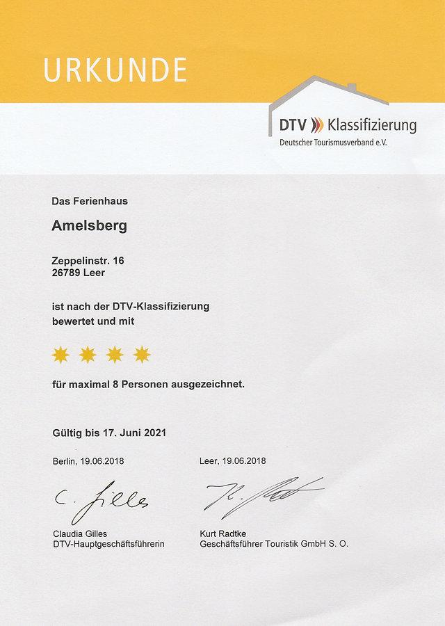 Die Sterneurkunde für das 4 Sterne Ferienhaus Amelsberg , 26789 Leer in Ostfriesland . Sterne vom Himmel können wir nicht holen , aber eine 4 Sterne Ferienwohnung bieten wir an .