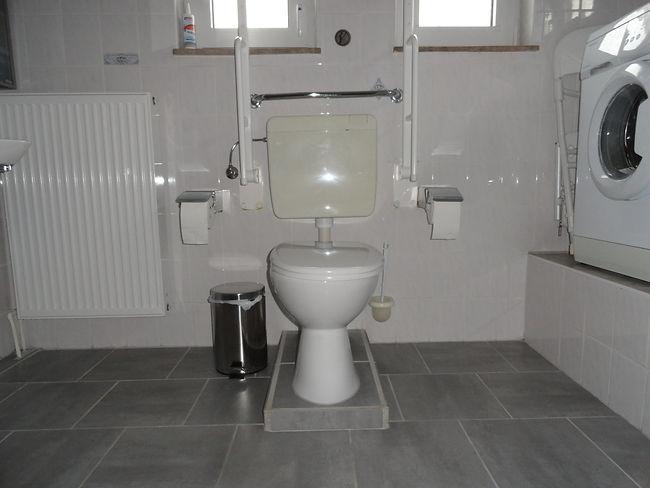 Badezimmer, Toilette, Haltegriff, Ferien