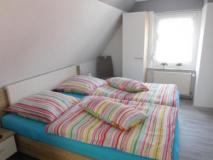 Schlafzimmer der Ferienwohnung Leer in Ostfriesland