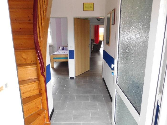 Breite Türen ermöglichen den Zugang und zu den Räumen zum / im  4 Sterne  Komfort Ferienhaus Amelsberg in 26789 Leer in Ostfriesland