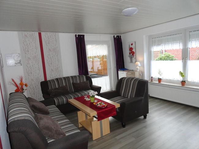 Wohnzimmer Ferienhaus Ferienwohnung Fewo Unterkunft 26789 Leer Ostfriesland