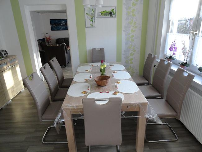 Esszimmer Ferienhaus Ferienwohnung Fewo Unterkunft 26789 Leer Ostfriesland