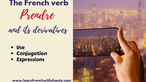 The French verb prendre and its derivatives : use and conjugation