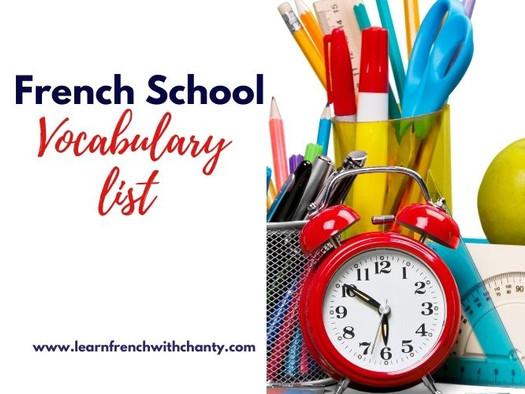 100+ Essential school vocabulary in French + PDF