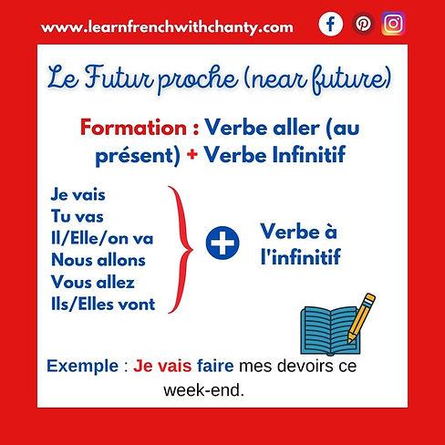 Le futur proche or near future in French