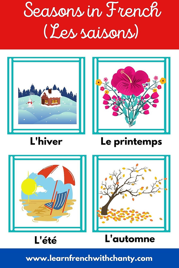 Seasons in French (les saisons)