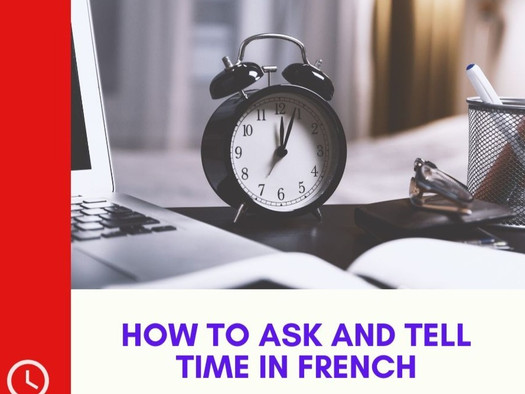 How to ask and tell time in French