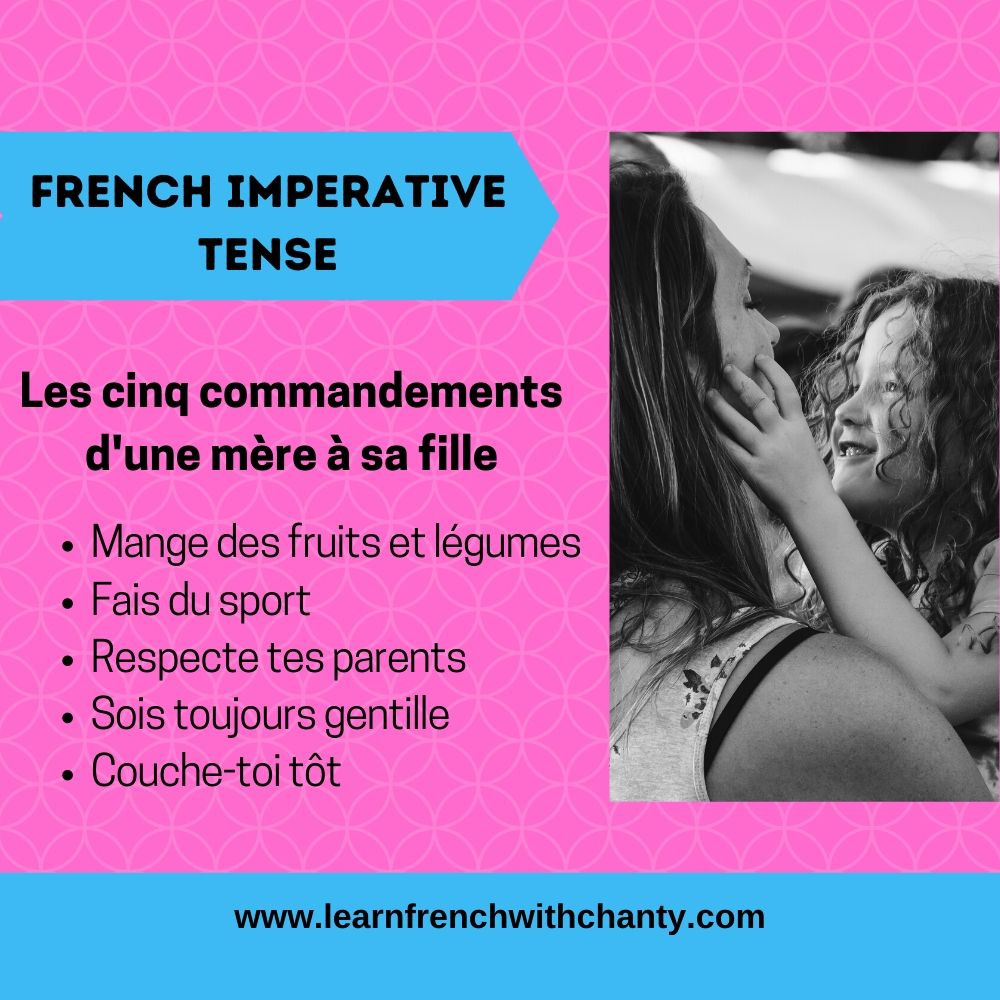 Learn French imperative tense construction