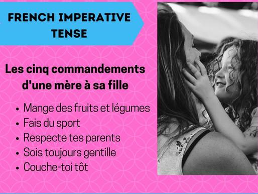 Learn French imperative tense (Impératif)