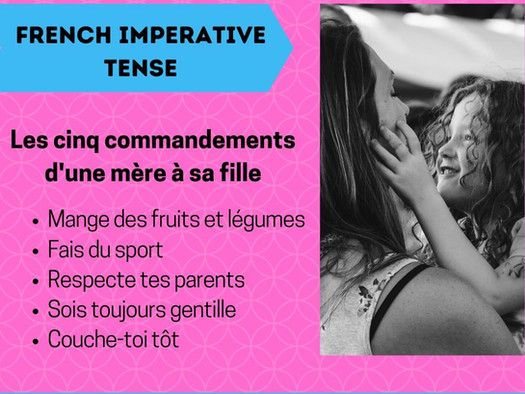 Learn French imperative tense (Impératif)
