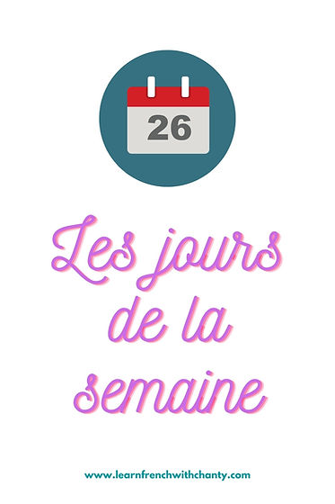 Days of the week in French jours de la s