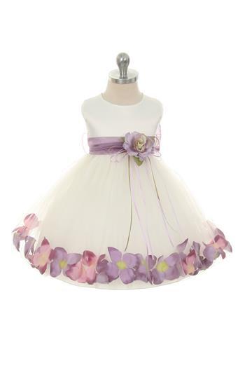 Flower Petal Dress with Sash-#195B