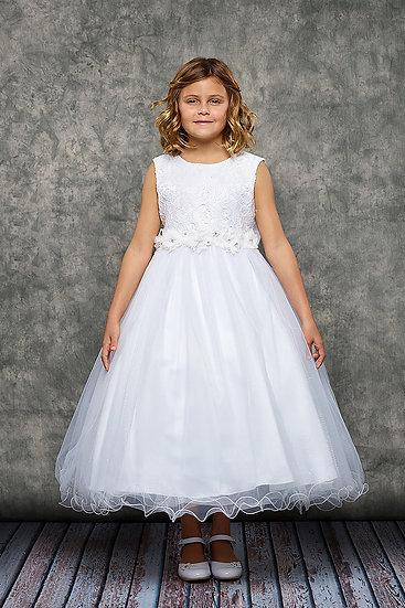 Lace Glitter Tulle Dress-#468C-KD