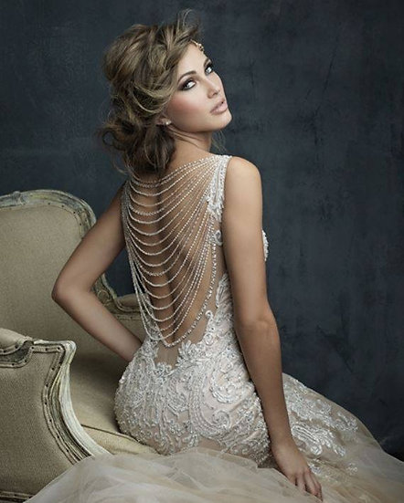 Pearl and Beaded Back Piece