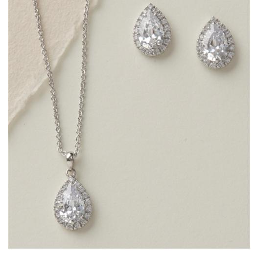 Tear Drop Bridal Jewelry Set